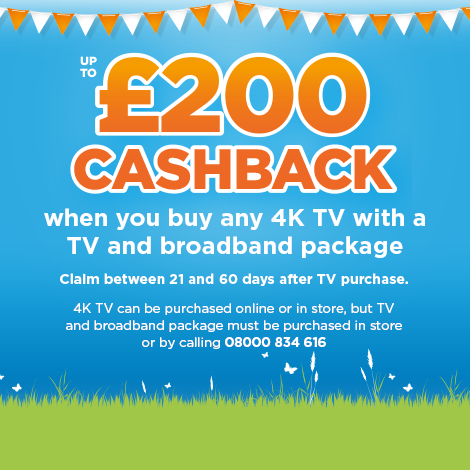 Currys PC World LSTV Cashback - GB